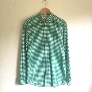 Lacoste Shirts - Lacoste Devanlay Classic Fit Green Checked…